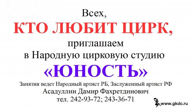 """Цирковая студия """"Юность"""""""